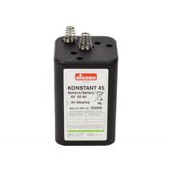 Blokbatterij + veer 6V 50AH