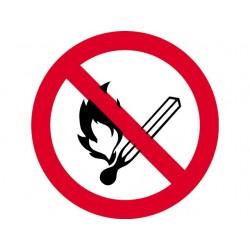 Open licht en roken verboden