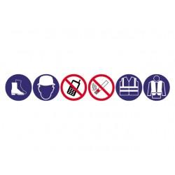 Verzamelbord met 6 symbolen