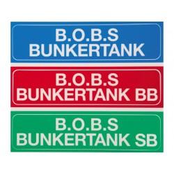 Bobs bunkertank SB+BB sticker