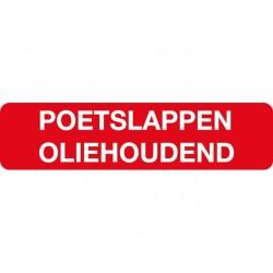 Poetslappen oliehoudend sticker
