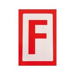 F sticker