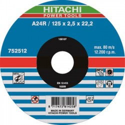 Hitachi doorslijpschijf 125mm x 2,5mm