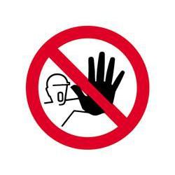 Schilder ''zugang für unbefugte verboten''