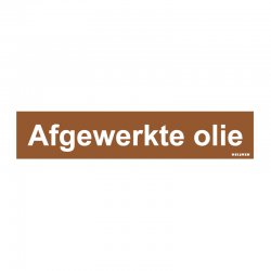 Graveerplaatje 'Afgewerkte olie' mt. s