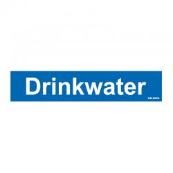Graveerplaatje 'Drinkwater' mt. s