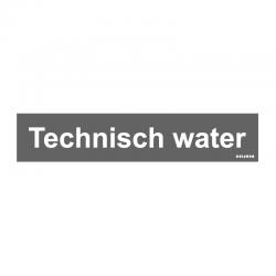 Graveerplaatje 'Technisch water' mt. s