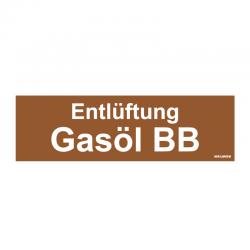 Graveerplaatje 'Gasöl SB' mt. s