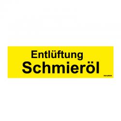 Graveerplaatje 'Schmieröl' mt. s