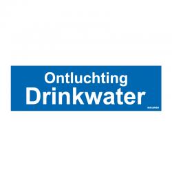 Graveerplaatje 'Ontluchting Drinkwater' mt.m