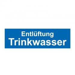 Graveerplaatje 'Entl. Trinkwasser' mt.m