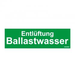 Graveerplaatje 'Entl. Ballastwasser' mt.m