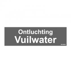 Graveerplaatje 'Ontluchting vuilwater' mt.m