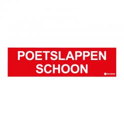 Graveerplaatje 'Poetslappen schoon' mt.l