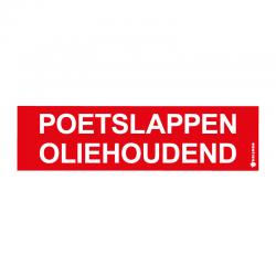 Graveerplaatje 'Poetslappen Oliehoudend' mt.l