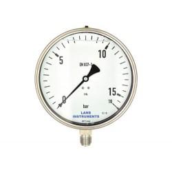 Rohrfedermanometer edelstahl, 160 mm