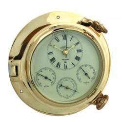 Bullauge Uhr / Wetterstation ø 23 cm